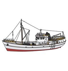 White motor boat vector
