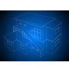 Wireframe home stylish one vector