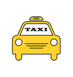 Yellow taxi car logotype for website stickers vector