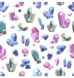 Crystal Minerals Seamless Pattern vector image