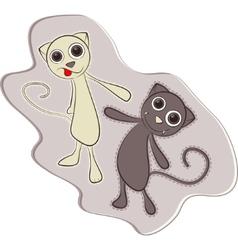 cute cat - vector image vector image