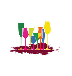 glasse to alcohol vector image vector image