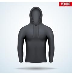 Hoodie black design templates vector image vector image