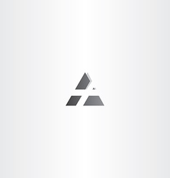 letter a black triangle icon design vector image