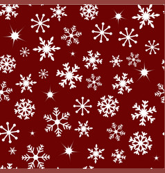 pattern with snow vector image vector image