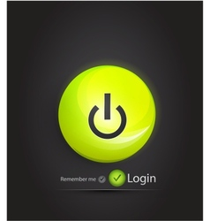 power button login page vector image vector image