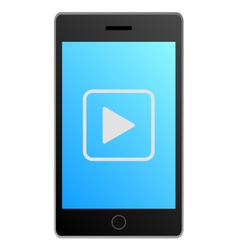 Smartphone video vector image