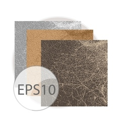 Vintage abstract and natural leather texture vector image
