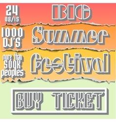brochure flyerposter for summer festival vector image