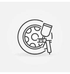 Car wheels paint icon vector