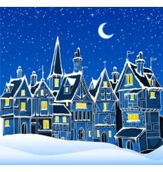 Christmas snow scene vector image