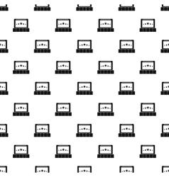 Cinema pattern simple style vector image