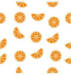 seamless pattern orange slices vector image vector image