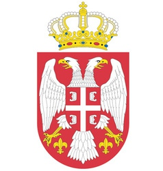 serbian coat of arms vector image