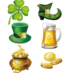 st patrick day set vector image