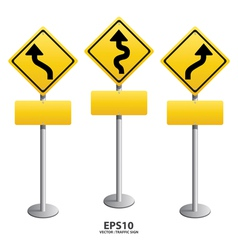 traffic sign Zigzag vector image