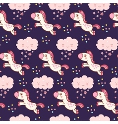 Baby cute pattern vector image vector image