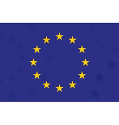 European union flag With additional stars on vector image vector image