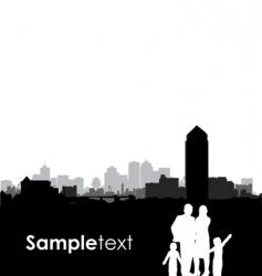 family cityscape vector image