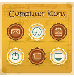 Internet ediction icons vector image vector image