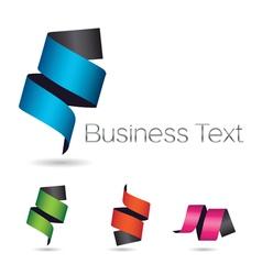 Ribbon Scroll Logo Element vector image