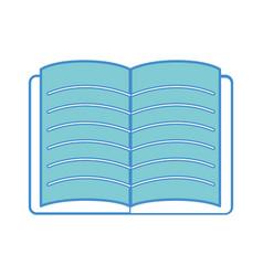 School notebook open to study icon vector