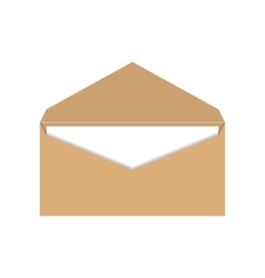 Yellow envelope with a letter vector image vector image