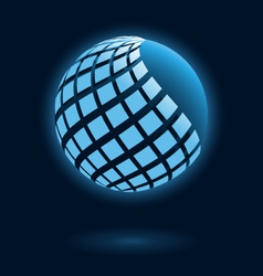 Abstract global icon vector image vector image