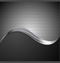 Abstract perforated metal background and steel vector image vector image
