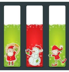 Christmas congratulation stickers vector image vector image