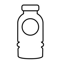 cosmetic bottle icon outline style vector image vector image