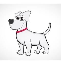 Outlined cute cartoon dog vector
