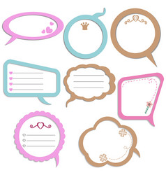 set of colorful speech bubbles set of colorful vector image