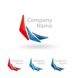 triangle logo design vector image vector image