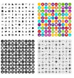 100 children activities icons set variant vector