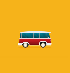 a retro travel van flat style vector image