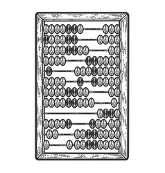 Abacus mechanical device sketch scratch board vector