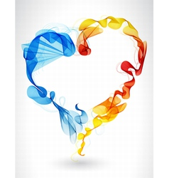 Abstract wave heart vector image