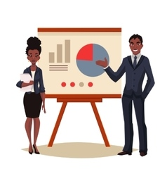 African American businessman and businesswoman vector
