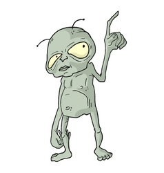alien draw vector image