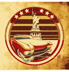 American style poster vector