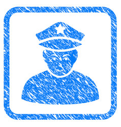 army general framed stamp vector image