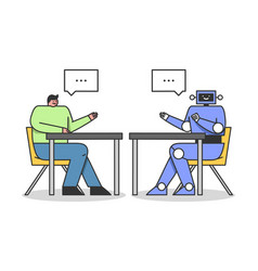 Artificial intelligence concept developer vector