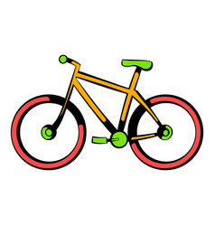 bicycle icon icon cartoon vector image