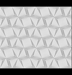 black and white geometric seamless pattern modern vector image