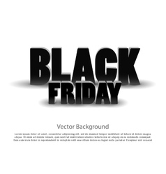 Black friday sale background on white vector