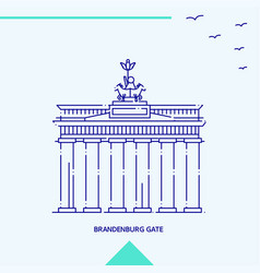 brandenburg gate skyline vector image