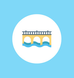 bridge icon signy symbol vector image