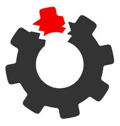 broken cog icon vector image