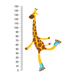 cheerful funny giraffe on riller with long neck vector image